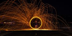 Steel wool photography on the Homer Spit Photo by: Spencer Warren @warrencaptures