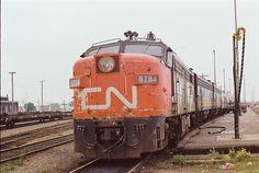 CN train Via Rail passenger Moncton 1979 by Jon Archibald, via Flickr