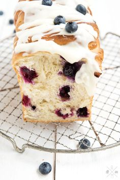 ... blueberry brioche with cream cheese frosting ...