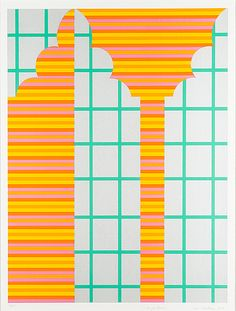 Mari Rantanen: Raita ja reuna, serigrafia, 79,5x59 cm, edition 26/75 - Bukowskis Market 5/2016