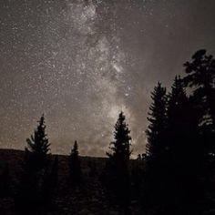 Milky Way from a dark night in the Sierras.