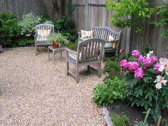Gartenbereich Gartengestaltung mit Kies