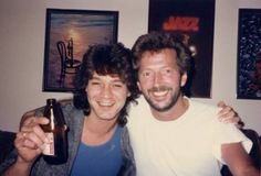 Eddie Van Halen & Eric Clapton--The Master and his Disciple!! Or maybe 2 Masters, however u see it, 2 of the BEST!! {GM}