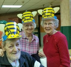 Residents at Juniper Village at Meadville were intrigued during a recent visit from Kathy Vorisek, a local honey bee farmer, and by all that she had to teach them about