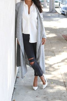 THE SEASON OF EXTRA LONG CARDIGANS:Pursuit of Shoes waysify