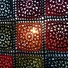 Karin on the hook: Crochet curtains Crochet Motifs, Crochet Squares, Crochet Granny, Crochet Patterns, Crochet Ideas, Crochet Rugs, Crochet Home Decor, Crochet Crafts, Crochet Projects