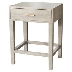 Grey Accent Table from Target - looks like a million bucks!  #stylesteals