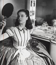 Vivien Leigh photographed in her #GWTW dressing room by Louise Dahl-Wolfe. Likely for @harpersbazaarus #TCMParty