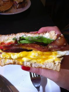 Broken Yolk BLT is a great twist on a BLT with runny fried eggs that enhance the rich flavor of the bacon-of-the-day. Bacon Restaurant, Austin Food, Fried Eggs, Pet Pigs, Austin Texas, Travel Guides, Your Pet, Food And Drink, Pets