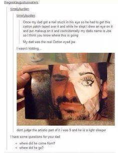 The real cotton eye joe