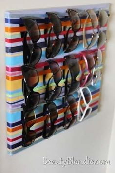 I think that a small section would be a great way to organize various glasses just inside the front door