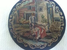 Vintage Embroidered Needlepoint Powder Compact | eBay