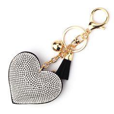 Purse Pendant - Crystal Heart Purse Charms