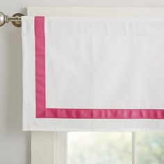 Suite Ribbon Valance, Bright Pink