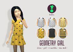 GEOMETRY GIRL dress at Kedluu via Sims 4 Updates