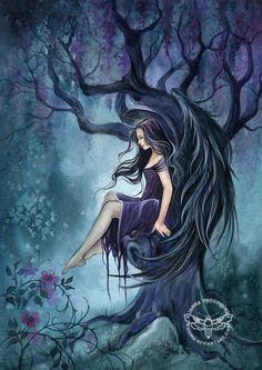 In the Shadow by JannaFairyArt on DeviantArt * Angel Fantasy Myth Mythical Mystical Legend Wings Feathers Faith Valkyrie Odin God Norse Death Dark Light Engel d'ange di angelo de Ángel Ангел anděl wróżka de anjo angyal