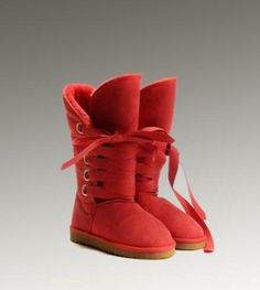 UGG Roxy Tall 5818 Red Boots For Sale In UGG Outlet Save more than $100, Free Shipping, Free Tax, Door to door delivery