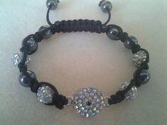 $20 genuine swarovski evil eye hematite hand wrapped bracelet