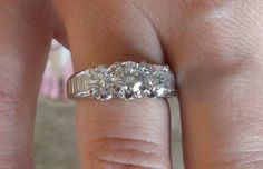 @@@ 2 CARAT PAST PRESENT FUTURE DIAMOND ENGAGEMENT RING FROM HELZBURG - $2300