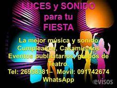 Alquiler de Luces y Sonido Para Fiestas, Tel: 091742674 -- 26958381  Alquiler de Discoteca, luces, Sonido, Proyeccion ..  http://solymar.evisos.com.uy/alquiler-de-luces-y-sonido-para-fiestas-tel-091742674-26958381-id-313670