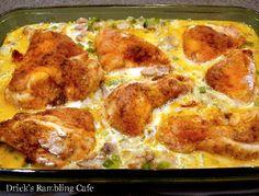 Drick's Rambling Cafe: Baked Chicken over Creamy Mushroom Rice