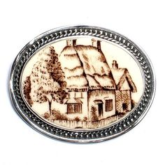 Broken China Jewelry English Cottage Sterling Brooch $128