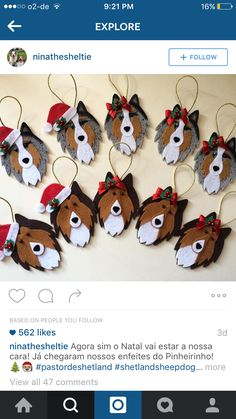 Sheltie ornaments!!