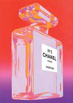 Chanel No 5 No5 No.5 Andy Warhol impresión Poster por PrintArtworks