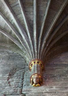 The Head - South Transept of Hereford Cathedral