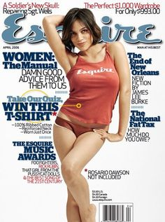 Esquire Esquire is the original and leading men's lifestyle magazine. Esquire's award winning editorial covers everything a man needs to know each month Rosario Dawson, Esquire, Gq, Taurus, Divas, Josie And The Pussycats, Personal Fitness, Beauty Shots, Beautiful Black Women