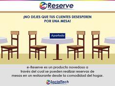 Imagen promocional para nuestro producto de Reserva de mesas, e-Reserve.