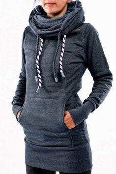 chic grey hoodie