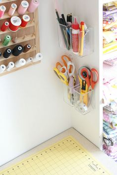 MessyJesse: Craft Room Idea: Wall Storage