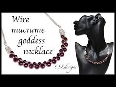Csldesigns.  Wire macrame  goddess necklace.