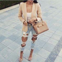 jacket light brown beige jacket blazer jeans
