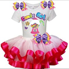 "Pink Tutu Birthday Party ""CANDY GIRL"" Edition Outfit Set"