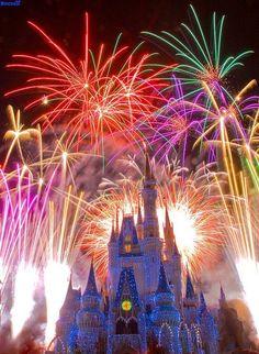 Cinderella Castle, Magic Kingdom, Walt Disney World, FL South Beach - Florida Nothing like Magic Kingdom Fireworks! Walt Disney World, Disney World Magic Kingdom, Disney Parks, Disney Pixar, Orlando Disney, Disney Cruise, Magic Kingdom Fireworks, Disney Fireworks, Fireworks Art