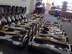Chrome and gold custom 8 inch hoverboards!  Mini Segway Buy hoverboard  Buy Skywalker  Buy IO Hawk
