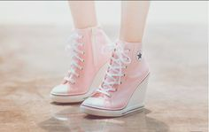 High heel converse wedges for the girls =)                                                                                                                                                                                 More