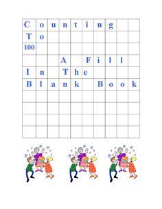 Classroom Freebies: Counting to 100: Fill in the blank monthly grids