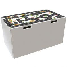 Möbelfolie Kleine Stadt für IKEA STUVA Bank 50x90 cm 01
