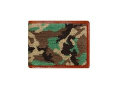 Camo Needlepoint Wallet