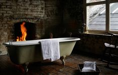 Bath & fireplace