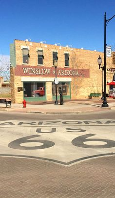How one song saved an entire Route 66 town on Roadtrippers Old Route 66, Route 66 Road Trip, Travel Route, Road Trip Usa, Travel Usa, Road 66, Back Road, Winslow Arizona, Arizona Travel