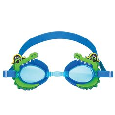 Your little swimmer will make quite a splash at the pool or beach with Stephen Joseph Swim Goggles. These goggles have a soft, comfortable frame in a funky design that protects your child's eyes with fun style to suit them. Swimming Drills, Kids Swimming, Swimming Benefits, Swimming Equipment, New Kids Toys, Little Swimmers, Water Safety, Funky Design, Swim Lessons