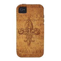 Ancient Fleur De Lis iPhone 4 Case