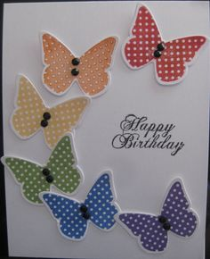 another versatile style using butterlies in half circle around sentiment