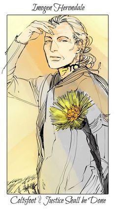 Shadowhunter Flower Series, Imogen Herondale: Coltsfoot; art by Cassandra Jean