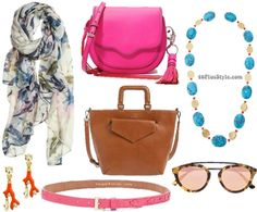 spring accessories trends bold floral pear shape | 40plusstyle.com