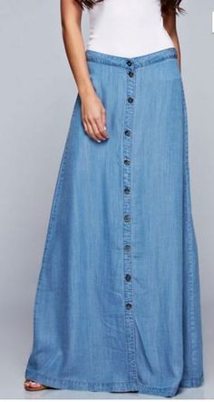 Denim Chambray Maxi Skirt IF I GOT ONE THING IN MY NEXT FIX MAKE IT THIS!!